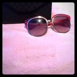 Authentic Gucci Pink and Gold Sunglasses